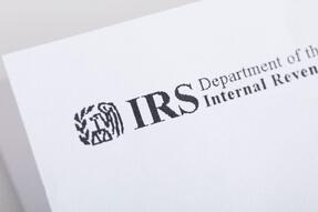A close up of an IRS letterhead