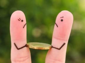 Divorce finger people fighting over self-directed IRA- BLOG