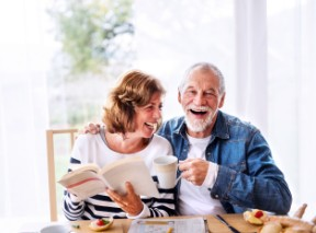 Happy Breakfast Eating Senior Couple - BLOG